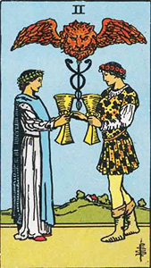 California Psychics, Tarot: Two of Cups